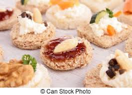 canapé toast assortment of canape toast stock image search photos and photo