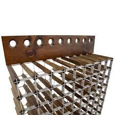 OFF Custom Wood and Metal Wine Rack Storage