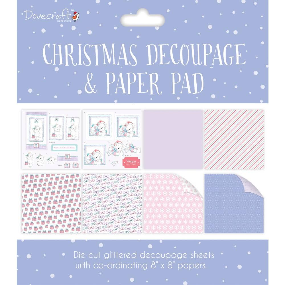Dovecraft Christmas Collection Decoupage Pad - Purple