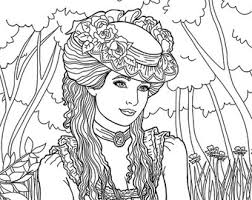 Adult Victorian Coloring Pages Sketch Template
