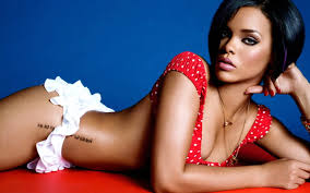 Tattoos Script Rihanna Hip Tattoo