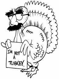 Funny Coloring Page Free Pages For Thanksgiving Printable Kids S