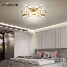 neue led kronleuchter kinderzimmer leuchten für wohnzimmer esszimmer schlafzimmer blau rosa gold decke kronleuchter le beleuchtung