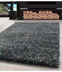 shaggy teppich hochwertig hochflor wohnzimmer mint grau creme meliert
