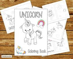Unicorn Coloring Book Printable