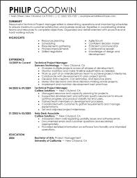Technical Project Manager Resume Example Functional Template 2017 Templates
