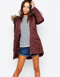 only faux fur parka jacket at asos outerwear love pinterest