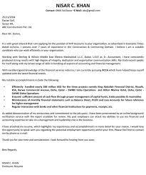 Finance Cover Letter Sample Download