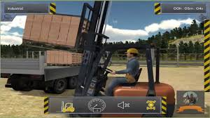 Forklift Move The Bricks On Truck In Bau Simulator 2012 - YouTube