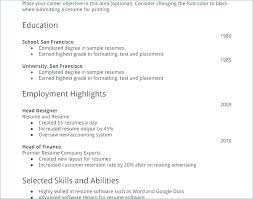Sample Resume College Student No Experience Job Examples New High School Template For Part Time Samp
