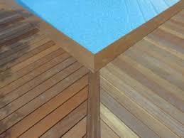 margelle piscine en bois ipé margelle bois piscine 24 cm tekabois