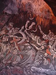 Jose Clemente Orozco Murales by The Clowns Of War Arguing In Hell 1944 Jose Clemente Orozco