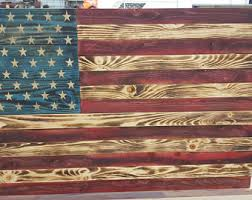Recalimed Pallet Wood Rustic Hand Made American Flag Wall Hanging