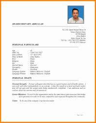 Resume Sample Malaysia 2016 Luxury 10 Latest Format Of Curriculum Vitae