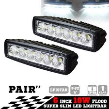 2x 6inch 18W LED Light Bar Driving Work Lamp Flood Truck Offroad ... 1224v 6 Led Slim Flash Light Bar Car Vehicle Emergency Warning Best Cree Reviews For Offroad Truck Cirion 47 88led Led Emergency Strobe Lights Flashing New Roof 40 Solid Amber Plow Tow 22 Full Size And Security Top Bar Kits Kit Packages 88 88w Car Truck Beacon Work Light Bar Emergency Strobe Lights Inglight Bars At Fleet Safety Solutions 46 Youtube 55 104w 104 Work Light Beacon