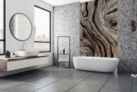 kunst mit holz gemalt fototapeten fürs badezimmer
