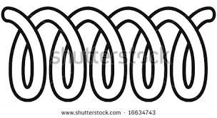 Art Illustration In Black And White A Coil