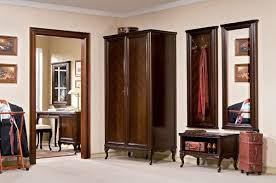 casa padrino luxus jugendstil schlafzimmerschrank dunkelbraun 114 5 x 60 x h 206 cm massivholz kleiderschrank mit 2 türen barock jugendstil