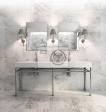 fototapete minimal elegante luxus badezimmer olivgrün weißem marmor