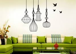 Unique Bird Cage Decorative Wall Painting Patterns