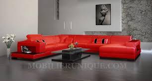 canapé d angle panoramique en cuir modèle mélodie