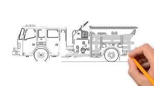 100 Fire Truck Drawing Fire Truck Transport Pencil To Draw Step By Step YouTube
