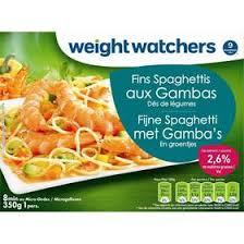 plat cuisiné weight watchers weight watchers fins spaghettis aux gambas dés de légumes 350g