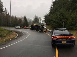 Lumber Truck Rollover Causes Delays At Highway 26, 101 Junction ...