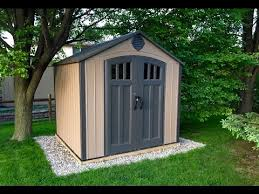 lifetime storage shed assembly youtube