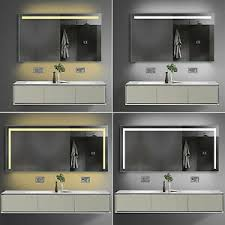 details zu led beleuchtung warm kalt weiß licht badezimmer spiegel mit steckdose 60 180cm