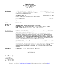 Social Work Resume Sample Example Service Worker