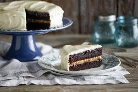 Chocolate Black Magic Cake w Butterscotch & Cream Cheese Frosting