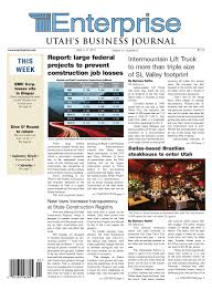 The Enterprise - Utah's Business Journal Sept. 5, 2011 By Vaughn ... Kibri 18020 Container Grabber Military Green Building Kit 1 87 Ho Diesel Truck Repair Shop At Iermountain Lift Truck These Guys Can Termountain Lift Expanding Shop Space Deseret News Vehicles For Sale In Colorado Springs Co Coach Results Industrial Heavy Equipmenttractors Kslcom Used Ford F150 For In Murray Utah Quality Trucks Overhead Work 150m Spanish Fork Hospital Coming 20 Cstruction Equipment Still Forklift Rx 6080 Taking Heavy Loads Light Youtube Healthcare Opens New Transformation Center To Improve Dock And Door Service Salt Lake City Custom Weathered Sd402 With Dccesu Loksound Cefx