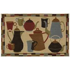 MohawkR Home Coffee Pot Shuffle Kitchen Rug
