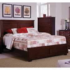 Espresso Brown Classic Contemporary Queen Size Bed Diego