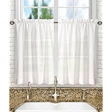 amazon com waffle woven half window curtains for bathroom