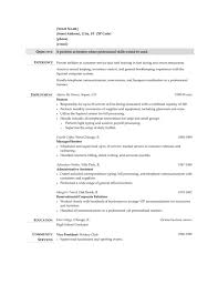 17 Hostess Resume Examples Standart Easy Objective Also Describe On Sample Job And