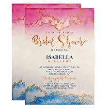 Modern Chic Gold Marble Bridal Shower Invitation