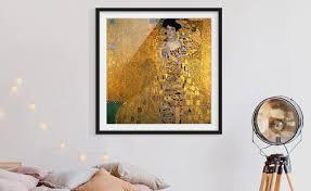 gerahmte bilder fürs wohnzimmer im echtholz rahmen