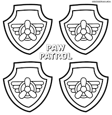 Paw Patrol Shield Coloring Pages