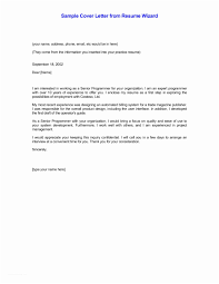 Cover Letter Examples For Resumes Standard Resume Of