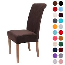 Colorxy Velvet Spandex Fabric Stretch Dining Room Chair Slipcovers Home  Decor Set Of 4, Dark Coffee Xiazuo Ding Chair Slipcovers Stretch Removable Covers Set Of 6 Washable Protector For Room Hotel Banquet Ceremonywedding Subrtex Sets Fniture Armchair Elastic Parsons Seat Case Restaurant Breathtaking Your Home Idea How To Sew A Slipcover The Ikea Henriksdal Hong Elegant Spandex Chairs Office Grey 4 Chun Yi Waterproof Jacquard Polyester Small Checks Antistain 2 Linen Store Luxurious Damask Cover Form Fitting Soft Parson Clothman Printed High Elasticity Fashion Plaid Kitchen 4coffee Subrtex Dyed Pieces Camel Leanking Knit Fabric Decor Beige Pcs Leaf Stretchable 1 Piece Yellow