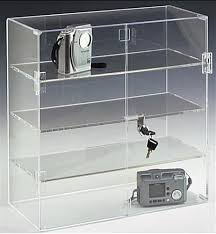 Acrylic Display Case Locking Hinged Doors 3 Shelves With Lockable Plan 5
