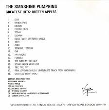 Cherub Rock Smashing Pumpkins by The Smashing Pumpkins Greatest Hits Rotten Apples Cdr At Discogs