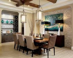 Buffet For Dining Room Black With Brown Line Accents Wall Mount Lamp Contemporary Wooden Flooring In Combined Leather Chairs