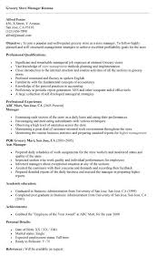 Supermarket Supervisor Resume Grocery Store Manager Example In 17823