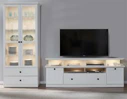 wohnzimmer möbel set wohnwand weiß landhaus vitrinenschrank
