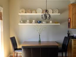 Facinating Dining Room Applying White Wall Color With Cabinets Completed By Decor