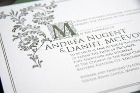 Old English Invitation Letterpress Detail