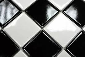 details zu mosaik fliese keramik schachbrett schwarz weiß glänzend bad 16 cd200 f 10matten
